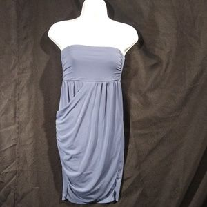 Forever 21 Strapless Blue Gray Dress